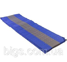 Коврик надувной 188 64 4 см сине серый
