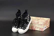 Жіночі кеди кросівки Walk'N'Dior Sneaker. ТОП репліка ААА класу., фото 3