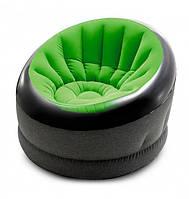 Удобное, надувное, велюровое кресло Intex 66581 (112*109*69 см)
