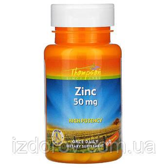 Thompson, Цинк 50 мг, Zinc, 60 таблеток