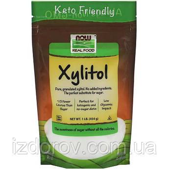 Now Foods, Real Food, Ксилит, натуральный подсластитель Xylitol, 454 г
