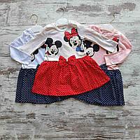 Детское платье клешное горох MINNIE для девочки 1-4 года, цвет уточняйте при заказе