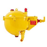Шаровой бак (регулятор давления) с поплавком, с промывкой, с 2-мя выходами Lubing 4207-00