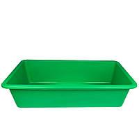 Таз пищевой прямоугольный на 55 л (зеленый)