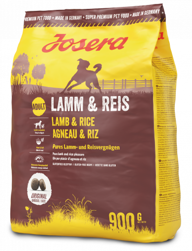 Josera Lamb and Rice 0,9 кг- корм с ягненком для собак