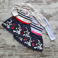 Детское платье клешное горох BUNNY для девочки 2-5 лет, цвет уточняйте при заказе