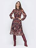 Шифоновое платье-миди с длинным рукавом, фото 9