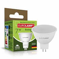 Точечная светодиодная EUROLAMP LED Лампа ЕКО SMD MR16 7W GU5.3 3000K