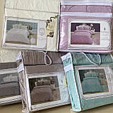 """Постельное белья c двумя пододеяльниками семейный комплект """"Rimbossa"""" - Эффект объёма, Натуральный - Вискоза, фото 4"""