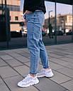 Джинсы мужские голубые от бренда Тур модель Мом, фото 6