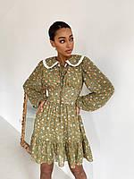 Короткое платье с большим стильным воротником