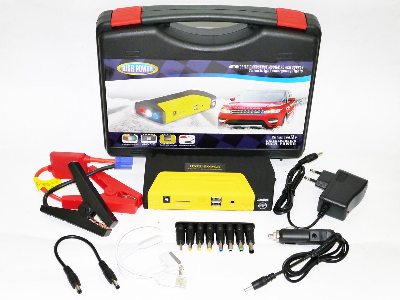 Car jump starter 16800mAh Повер банк зарядно пусковое устройство для машины 2хUSB+Фонарик o