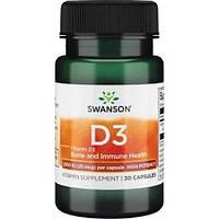 Витамины и минералы Swanson Vitamin D3 High Potency 1000IU 25 мкг 30 капс Скидка! (231434)