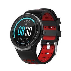 Чоловічі наручні годинники сенсорні Modfit C21 Black-Red Чорні смарт годинник Гарантія: 12 місяців