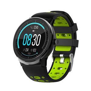 Чоловічі наручні годинники сенсорні Modfit C21 Black-Green Чорні смарт годинник Гарантія: 12 місяців.
