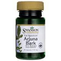 Вітаміни і мінерали Swanson Arjuna Bark 10:1 Extract 40 мг 60 капс Знижка! (231271)