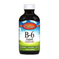 Витамины и минералы Carlson Labs B-6 Liquid Pyridoxine HCI 120 мл Скидка! (233080)