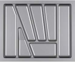Лоток для столових приладів VERSO 600 мм сірий