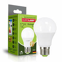 Классическая светодиодная EUROLAMP LED Лампа ЕКО А60 12W E27 4000K