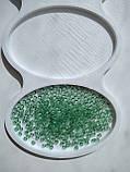 Чеський бісер Preciosa /10 Бісер для вишивання оливковий прозорий 01251, фото 2