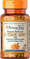 Вітаміни і мінерали Puritans Pride Vitamin C-1000 мг with Rose Hips Timed Release 60 капс