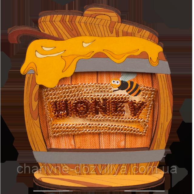 Набор-магнит для вышивки бисером в фигурной деревянной рамке FLD-025