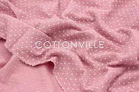 Муслин жатка Точки на пыльно-розовом 135 см