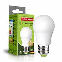 Классическая светодиодная EUROLAMP LED Лампа EKO A50 7W E27 4000K
