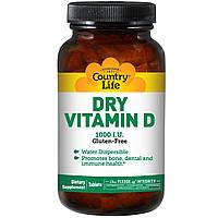 Вітаміни і мінерали Country Life Dry Vitamin D 1000 IU 100 таб (109555) Фірмовий товар!