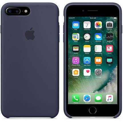 Чехол накладка xCase на iPhone 7 Plus/8 Plus Silicone Case темно-синий(33), фото 2