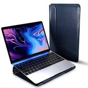"Папка-конверт для MacBook Leather standing pouch 13.3"" dark blue"