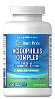 Витамины и минералы Puritans Pride Probiotic Acidophilus Complex 100 капс