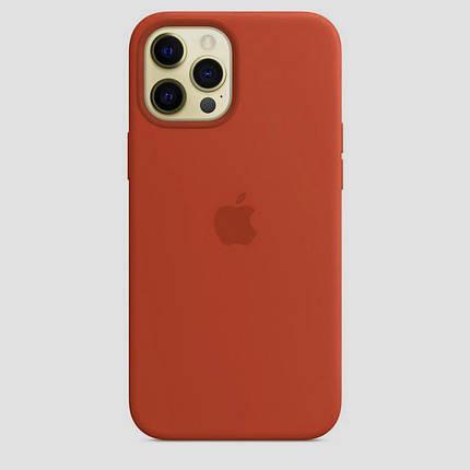 Чохол накладка xCase для iPhone 12 Pro Max Silicone Case Full orange, фото 2