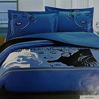 Постільна білизна сатин вишивка ТМ Word of Dream #601 двоспальне, фото 1
