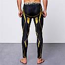 Мужские спортивные лосины Tauwell. Цвет: черный с желтым, фото 2