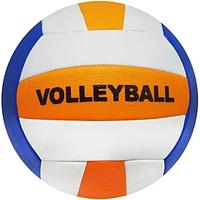 Мяч волейбольный Диаметром 21 см Оранжево-синий