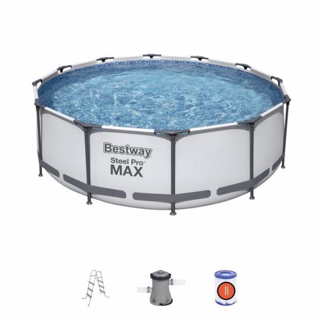 Каркасний басейн 56418, 366х100 см (фільтр-насос, сходи)
