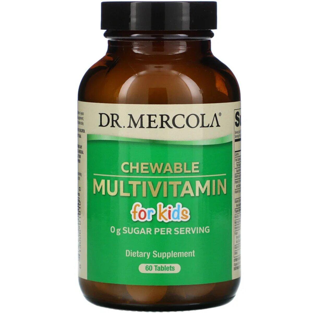 Мультивитамины для детей, Chewable Multivitamin for Kids, Dr. Mercola, 60 жевательных таблеток