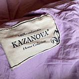 """Постельное белья c двумя пододеяльниками семейный комплект """"Rimbossa"""" - Эффект объёма, Натуральный - Вискоза, фото 5"""