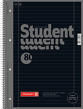 Тетрадь колледж-блок Brunnen А4 на спирали в линейку 80 листов 90 г м2 Colour Code обложка Черная, КОД: