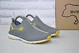 Серые дышащие подростковые кроссовки сетка без шнурка Restime, фото 3
