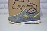 Серые дышащие подростковые кроссовки сетка без шнурка Restime, фото 2