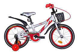 """Велосипед 16"""" Formula STORMER 2021 (серебристо-красный)"""
