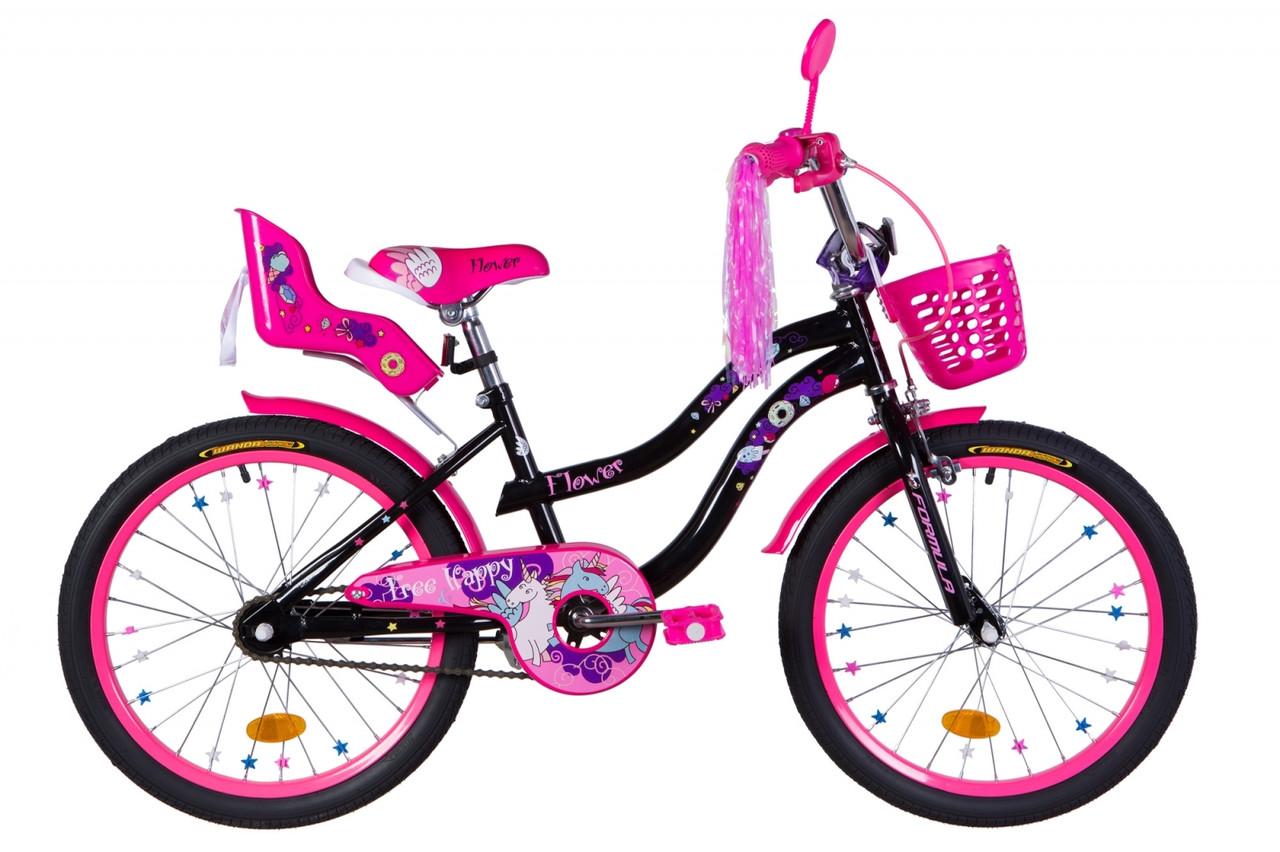 """Велосипед 20"""" Formula FLOWER PREMIUM 2021 (блакитний)"""