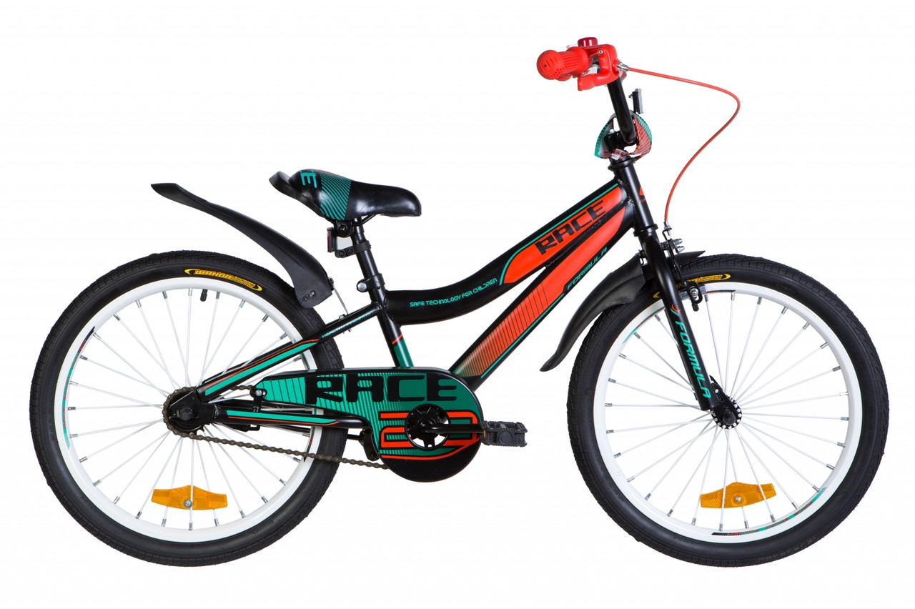 """Велосипед 20"""" Formula RACE 2021 (бірюзово-фіолетовий з малиновим)"""