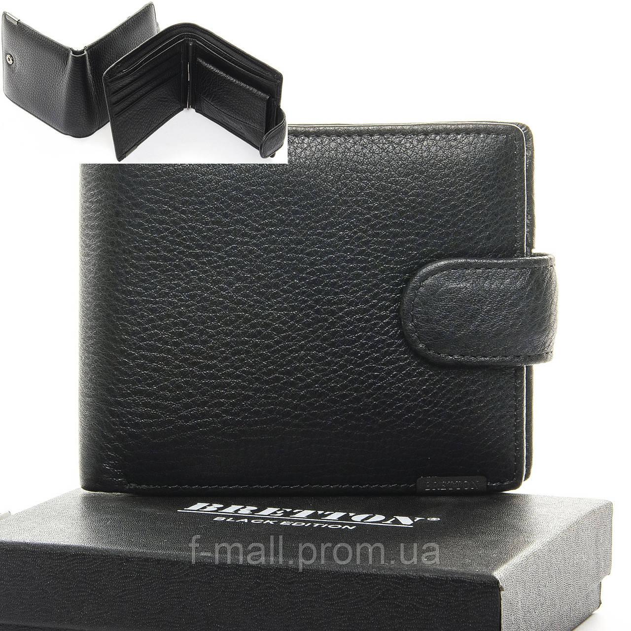 Кошелек мужской кожаный с зажимом BRETTON черный (05-112)