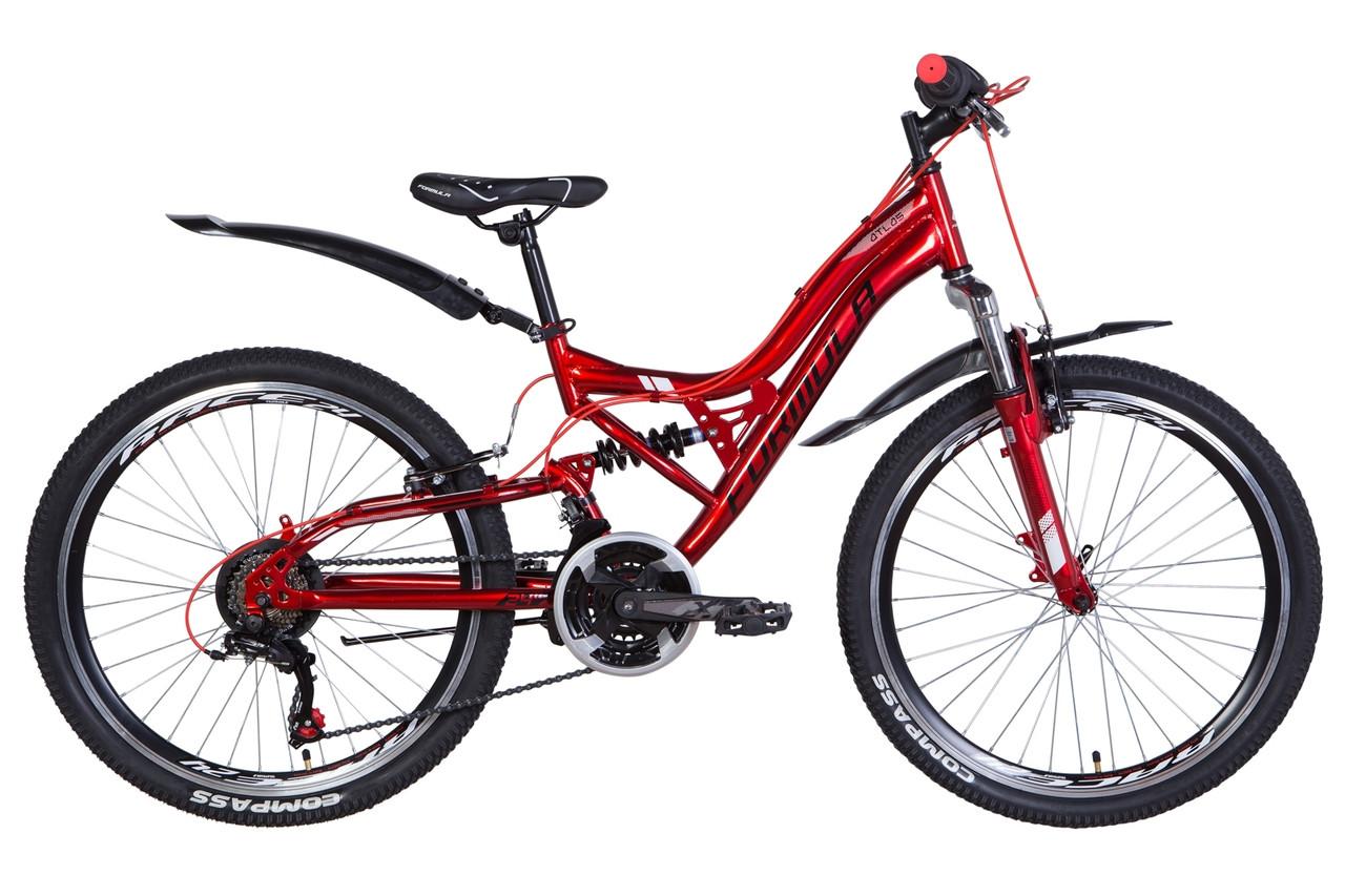 """Велосипед 24"""" Formula ATLAS 2021 (черно-оранжевый с синим)"""