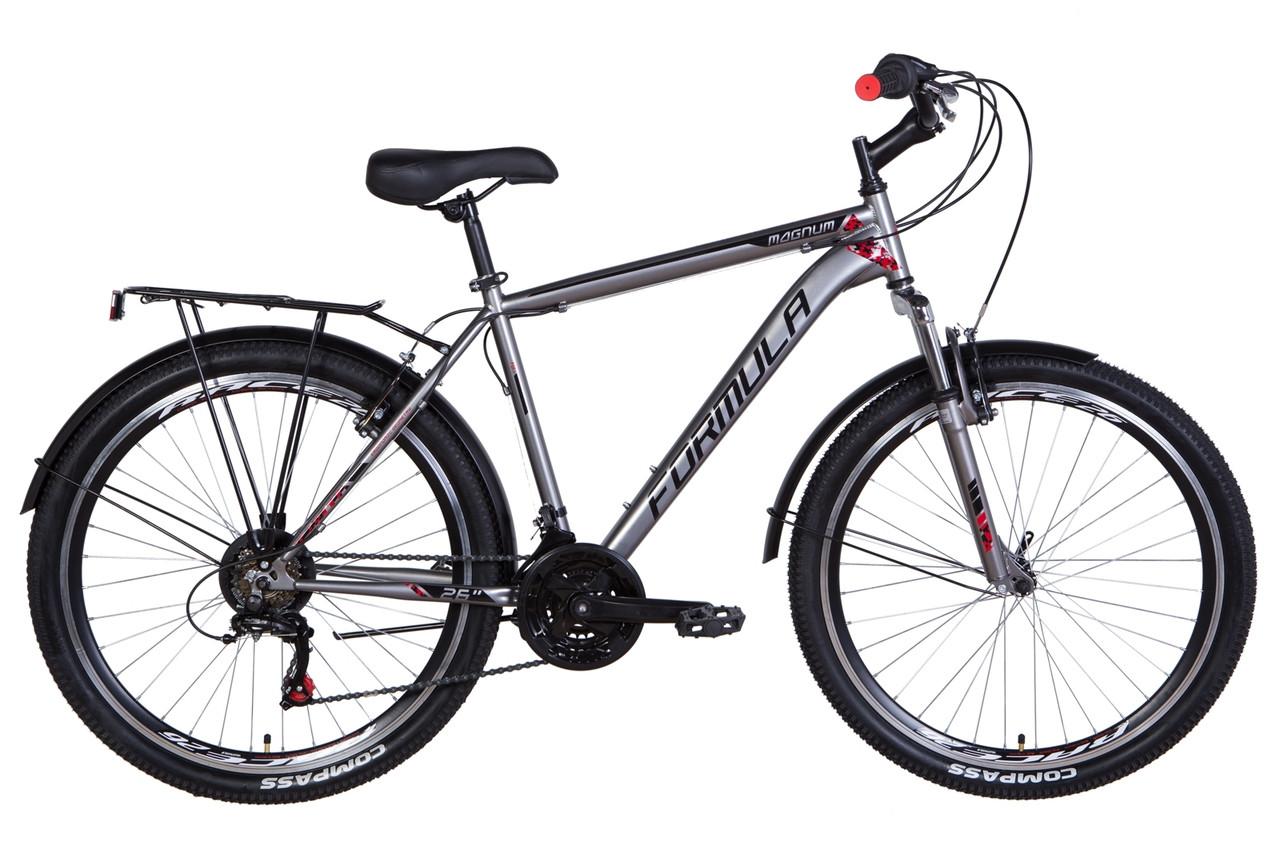 """Велосипед 26"""" Formula MAGNUM 2021 (черно-оранжевый (м))"""