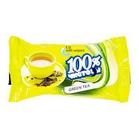 """От 28 шт. Салф. вл. """"100% чистоты"""" с аром. зеленого чая (15 шт.) 223 купить оптом в интернет магазине От 28"""