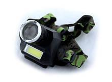 Налобный фонарь Police BL-6919B T6 COB Черно-зеленый sp3868, КОД: 110460